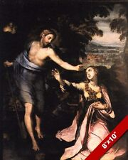 RISEN LORD JESUS CHRIST TOUCH ME NOT MARY PAINTING BIBLE ART REAL CANVAS PRINT