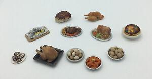 Dolls House  Food On Plates