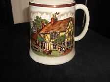 VINTAGE SWISS MUSICAL TANKARD JOLLY WAGGONER & TOM MOORE POEM THORENS DANUBE