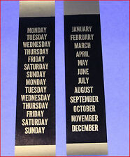 ITHACA CALENDAR CLOCK CALENDAR STRIPS BLACK & GOLD MATCH PARLOR, KILDARE, ETC.