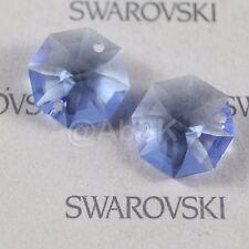 4 pcs Swarovski Prism Crystal 8116 14mm 2-holes Octagon Pendant MEDIUM SAPPHIRE