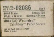 "3M 02086 Wetordry Tri-M-ite 2-3/4"" x 17-1/2"" 240A Grit Sheet"