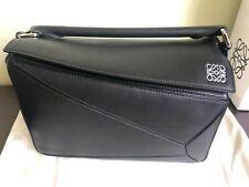 &^ Authentic Loewe Puzzle Bag Black Colour Size Medium