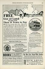 1927 Canadian Pacific Railway Ad Farm Land For Sale Canada Railroad Farmers