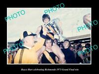 OLD POSTCARD SIZE PHOTO OF ROYCE HART 1973 RICHMOND FC GRAND FINAL WIN 3