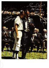 """Gordie Howe and Al Kaline during """"Kaline Day"""" ceremonies - very Rare!"""