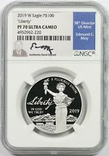 2019-W Platinum Eagle $100 One-Ounce PF 70 Ultra Cameo Mint Director Series Moy