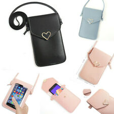 Crossbody Pouch Bag Long Strap Pocket card Wallet Purse PU Leather Phone Case