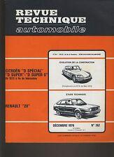 (C1)REVUE TECHNIQUE AUTOMOBILE RENAULT 20 / CITROEN D SPECIAL SUPER SUPER 5