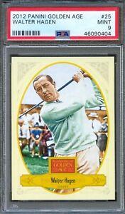 2012 Panini Golden Age #25 WALTER HAGEN Golf Champion HALL of FAME PSA 9 MINT