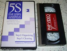5S Five Steps To Shaping Up The Shop Floor Takashi Osada VHS Organizing Cleaning