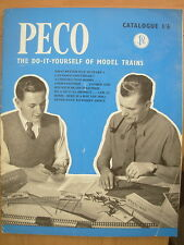 PECO 1959 MODEL RAILWAY CATALOGUE