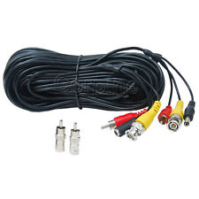 100ft Audio Video Power Security Camera Cable DVR CCTV Surveillance RCA Wire M1Z