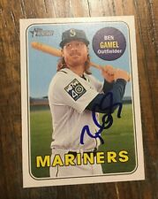 BEN GAMEL Signed 2018 Topps Heritage SHORT PRINT SP Baseball Card MARINERS AUTO