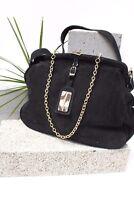French Connection Suede Leather Slouch Hobo Bag Shoulder Cross Shopper Handbag