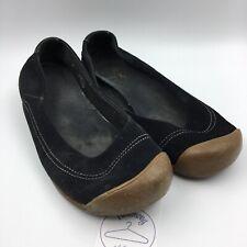 Keen Footwear Women's Black Suede Ballet Flats Comfort Shoes Size: US 10 EU 40.5