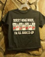 """Boy's Kids Toddlers Casual Short Sleeve T shirts """"SORRY HOMEWORK""""  XS 4/5 #GC3"""