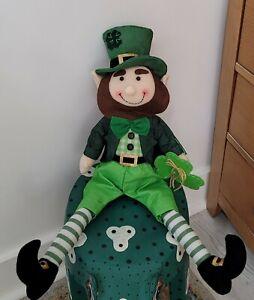 "🍀St Patrick's Day💚24"" Lucky Leprechaun Shelf Sitter Doll Irish Decoration New"