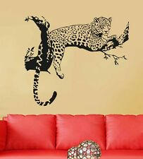 6400045 | Wall Stickers Animal Design Leopard On Branch Sofa Backdrop