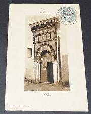 CPA CARTE BOUSSUGE 1909 COLONIES FRANCE AFRIQUE MAROC MAGHREB PORTE