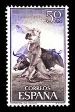"Bullfighting Spain Stamp Poster #7 Canvas Art Poster 16""x 24"""