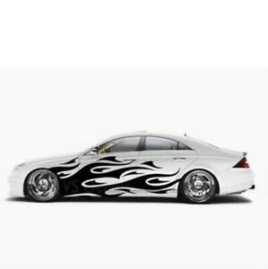 X2 Side Vinyl Car Side Body Graphics Decal Sticker Flame