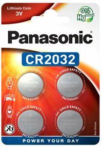 4 x Panasonic CR 2032 3V 4er Blister Lithium Batterie Knopfzelle