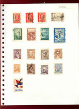Argentina Album Page Of Stamps #V4772