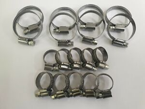 Triumph TR6 ** STAINLESS STEEL BAND WATER HOSE JUBILEE CLIP KIT! ** TR5