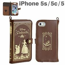 Disney Cinderella Old Book Leather Case Brown for iPhone 5 5S 5C