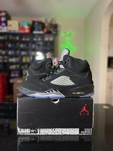 Nike Air Jordan 5 Sz 10.5 DS Black Metallic Silver 2016 Retro *SHIPS TODAY*