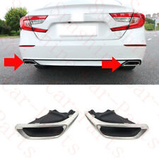 2x For Honda Accord 10th 2017-19 Car Rear Tail THROAT Stainless Cover Frame Trim