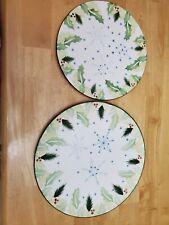 "Temp-Tations Presentable Ovenware Christmas Plates. 2 Piece Lot.12"" And 10"""
