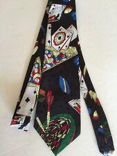 Gambler Billiards Card Shark Dice Darts Pool Poker Gaming Mens Neck Tie