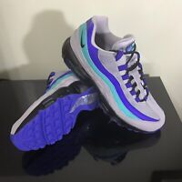 Nike Air Max 95 OG Men Size 9.5 Wolf Grey Black Indigo Burst Aqua 3M AT2865-001