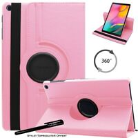 Housse Etui Rose pour Samsung Galaxy Tab A 10.1 2019 T510 Support Rotatif 360°