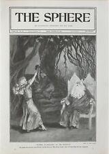1901 Aufdruck Theater Play At Vaudeville Blau Glocke in Märchenland Ellaline