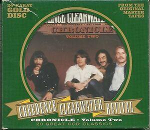 Creedence Clearwater Revival (CCR) Chronicle Vol.2 24 Karat GOLD CD OOP RAR