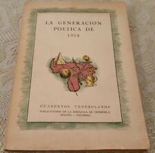 Vintage 1950 LE GENERACION POETICA DE 1918 Poem Book in French? Softcover