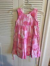 Girl Size 6X Jillian's Closet Pink Dress For The Summer Button Down