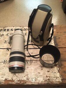 Canon EF 100-400mm Image Stabiliser F4.5-5.6  Zoom Lens + F/R Caps +Hood