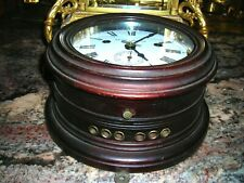 """1891"" Seth Thomas Mahogony Ships Clock With Strike & Sec. Hand- Very Rare Find."