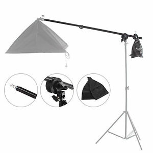 Overhead Boom Arm with Grip Head Clip for Studio Softbox Light Top Light Stand