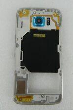 Original Samsung Galaxy S6 G920F Cubierta GH96-08583D Plata/Azul Medio (B2)