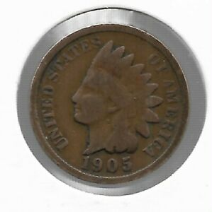 Rare Very Old Antique 1905 US Indian Head Penny Collectible Cent Collection Coin