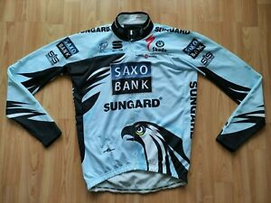 Team Saxo Bank Sungard Body Fit PRO LS Thermal Cycling Jersey Size: L NEW! RARE!