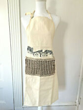 Nwot Canvas Cat Chef's Apron Kittens by Martha's Vineyard Woodchips Designers