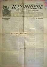 IL CORRIERE AGRICOLO COMMERCIALE 1 OTT. 1922 - CARO VITA E CAROVIVERI - N. 785