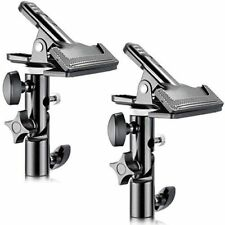 "New 2 Neewer Heavy Duty Photo Studio Clamps Holders 5/8"" Light Stand Attachment"