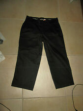 "NEW !! ""DOCKERS "" WOMEN  BLACK CAPRI PANTS 6 CUTE !!"